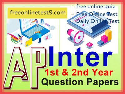 AP Inter 1st & 2nd Year Question Paper 2021