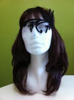 siyah dantel tül maske paper faces