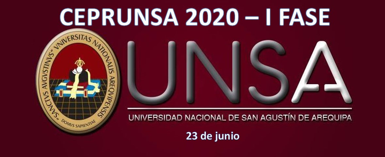 Resultados CEPRUNSA 2020 - I Fase (23 de junio 2019)