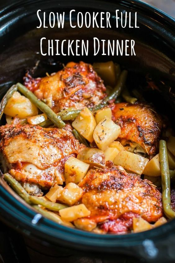 SLOW COOKER FULL CHICKEN DINNER #recipes #dinnerrecipes #funrecipestomakefordinner #food #foodporn #healthy #yummy #instafood #foodie #delicious #dinner #breakfast #dessert #lunch #vegan #cake #eatclean #homemade #diet #healthyfood #cleaneating #foodstagram