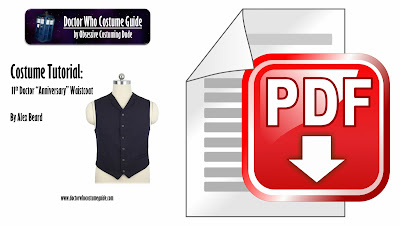 "11th Doctor ""anniversary"" waistcoat sewing tutorial PDF"