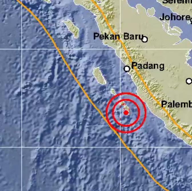 gempa di pesisir selatan, kerinci ikut berguncang
