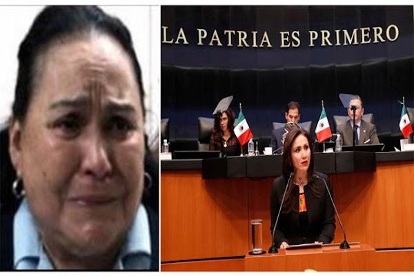 A como de lugar quieren correr a Carmen Salinas de la diputación, ella solo LLEGA A DORMIR y en cualquier evento se duerme.