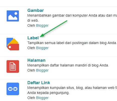 label,postingan,artikel,blog