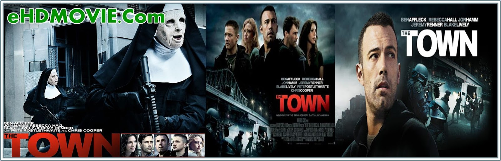 The Town 2010 Full Movie English 720p - 480p ORG BRRip 500MB - 1.1GB ESubs Free Download