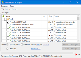 Xamarin Visual Studio Error The Installed Android SDK Platform Too Old