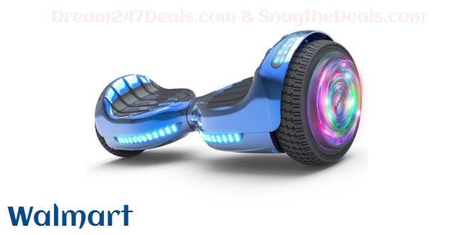 """Flash Wheel Hoverboard 6.5"""" Bluetooth Speaker with LED Light Self Balancing Wheel Electric Scooter"""
