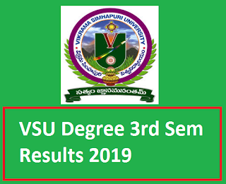 Manabadi VSU Degree 3rd Sem Results 2019