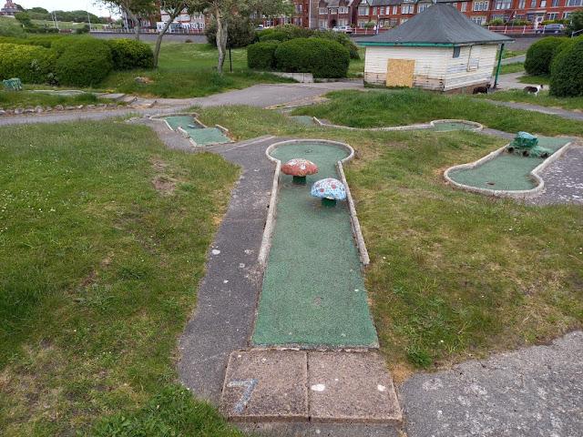 Crazy Golf at Marine Gardens in Fleetwood