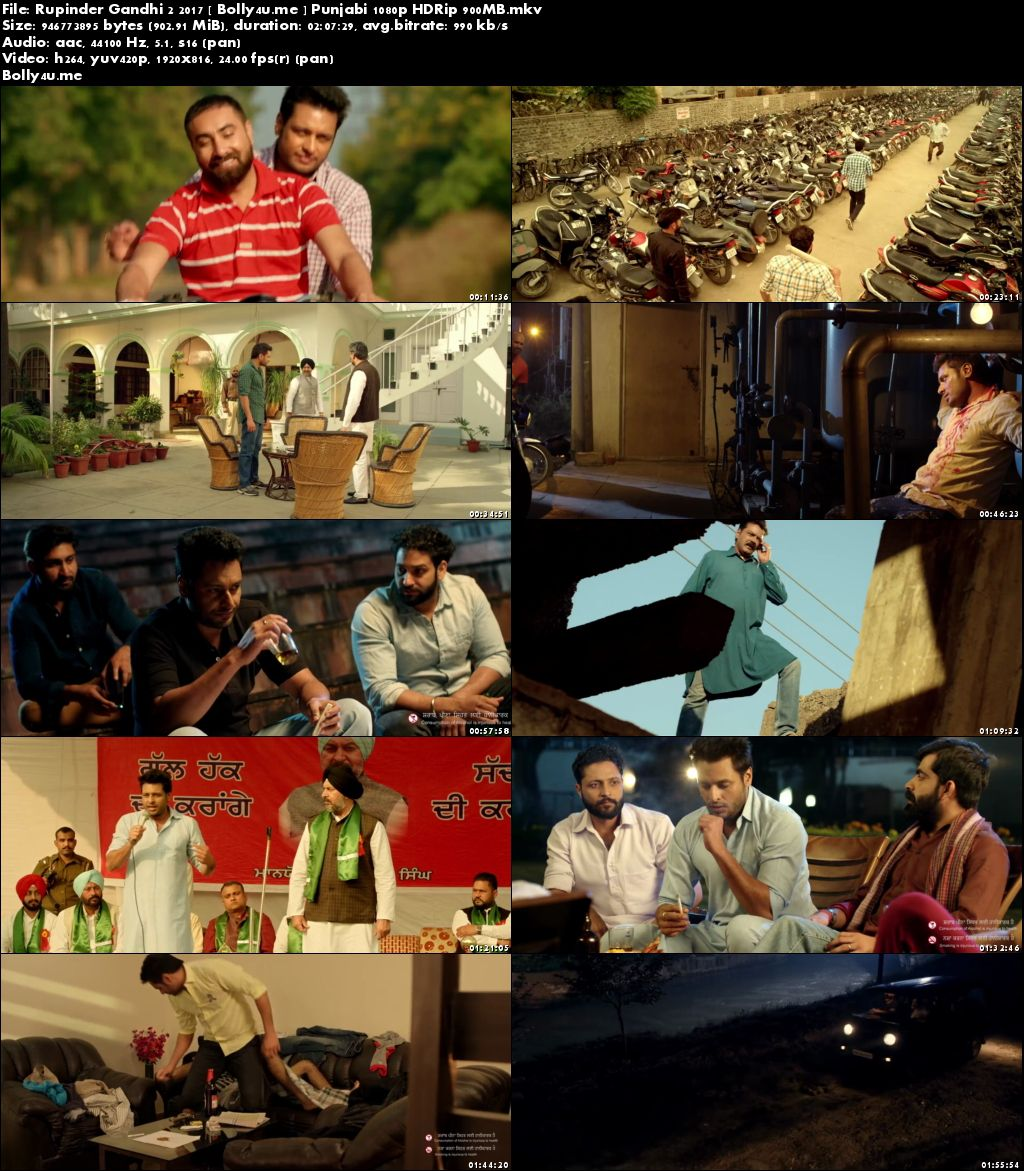 Rupinder Gandhi 2 2017 HDRip 350MB Full Punjabi Movie Download 480p