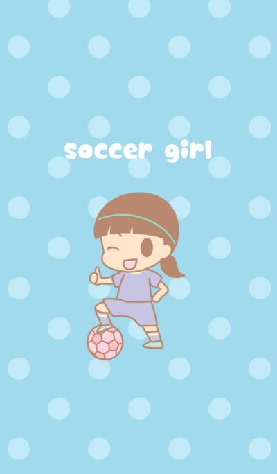 soccer girl(pastel blue)