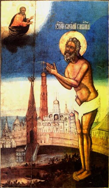 Αποτέλεσμα εικόνας για Άγιος Βασίλειος ο δια Χριστόν σαλός και θαυματουργός στη Μόσχα