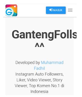 Gantengfolls. com || Cara menambah Followers gratis dengan Gantengfolls.com atau Gantengfollows com