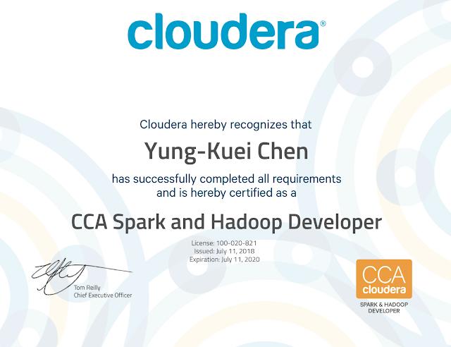 CCA Hadoop & Spark Developer Practice Tests (CCA175)
