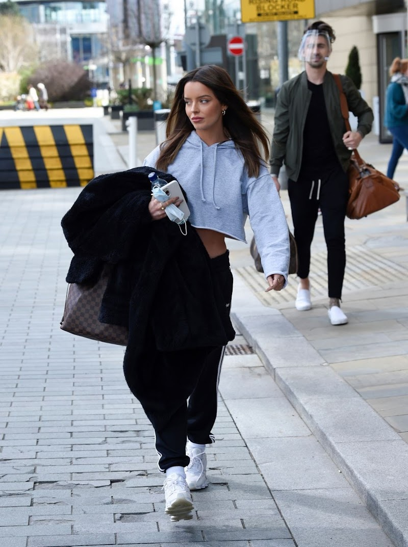 Maura Higgins Spotted At TV Studios in Media City 4 May-2021