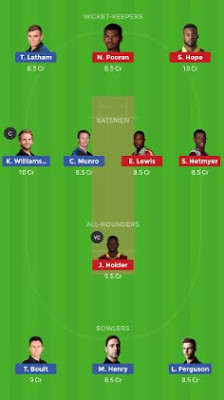 NZ vs WI dream 11 team | WI vs NZ