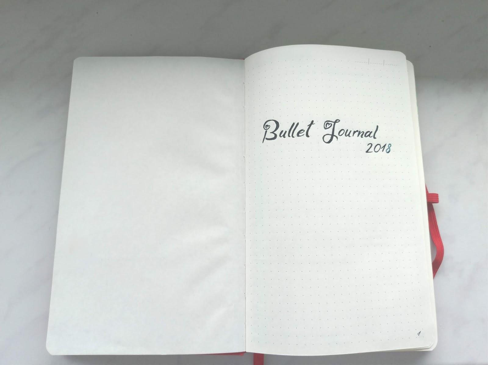 Bullet Journal - karta tytułowa