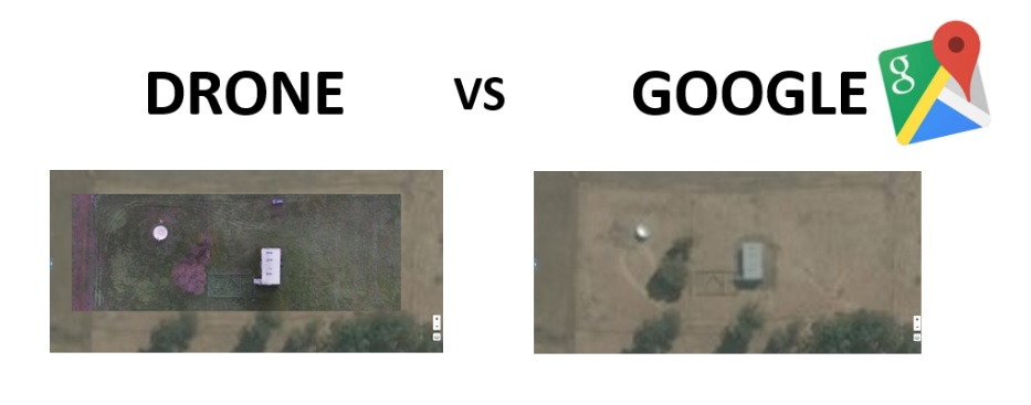 Drone Imagery Vs Google Maps - Drone maps google