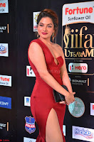 Natasha Nebasha in a Leg Slit Sleeveless Stunning Red Gown at IIFA Utsavam Awards 2017 029.JPG