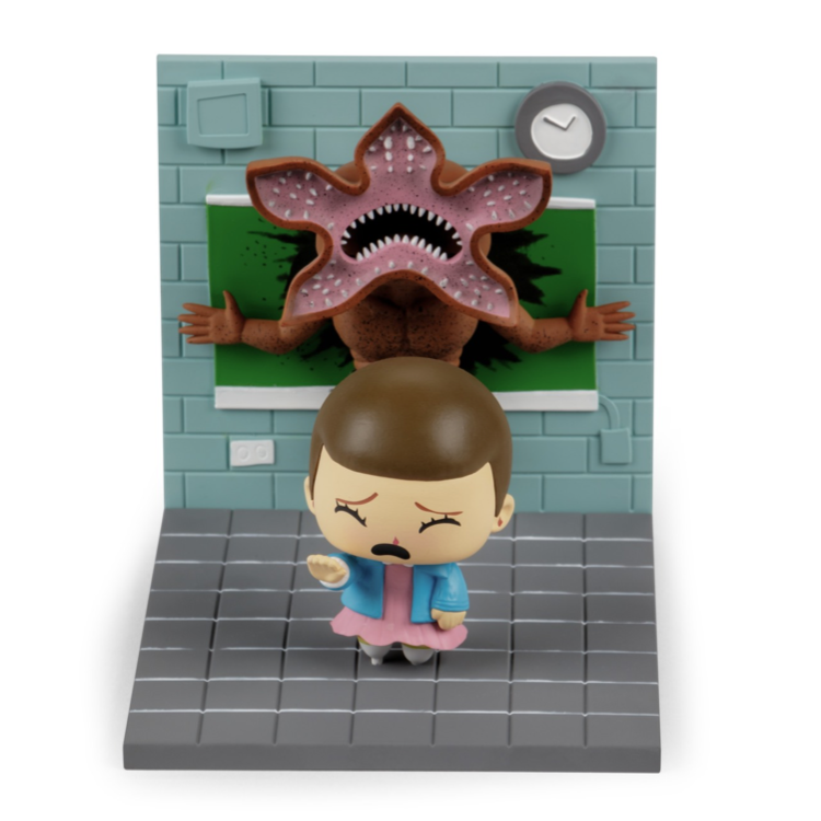 "8e771f07c8a SuperEmoFriends Eleven + Demogorgon ""Stranger Things"" diorama in ..."