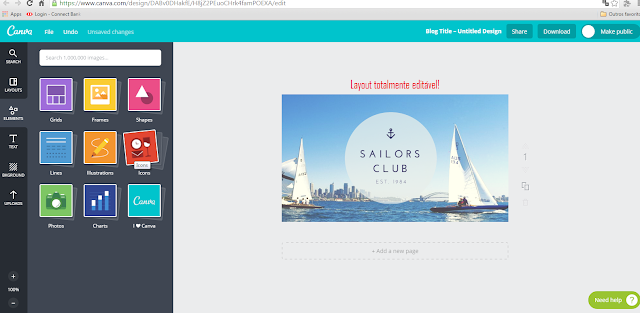 Layouts Canva