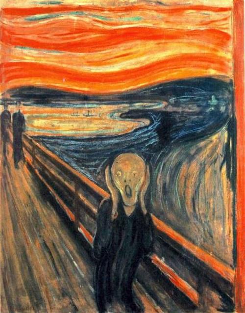 O Grito, pintura de Edvard Munch. #PraCegoVer