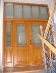 Drzwi wewnętrzne z naświetlem dwuskrzydłowe
