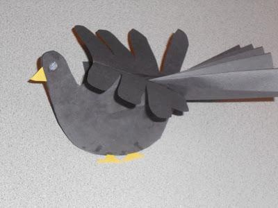madárkás ötlet kézlenyomatokból