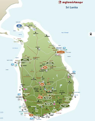 interactive tourist tourism travel map SRI LANKA