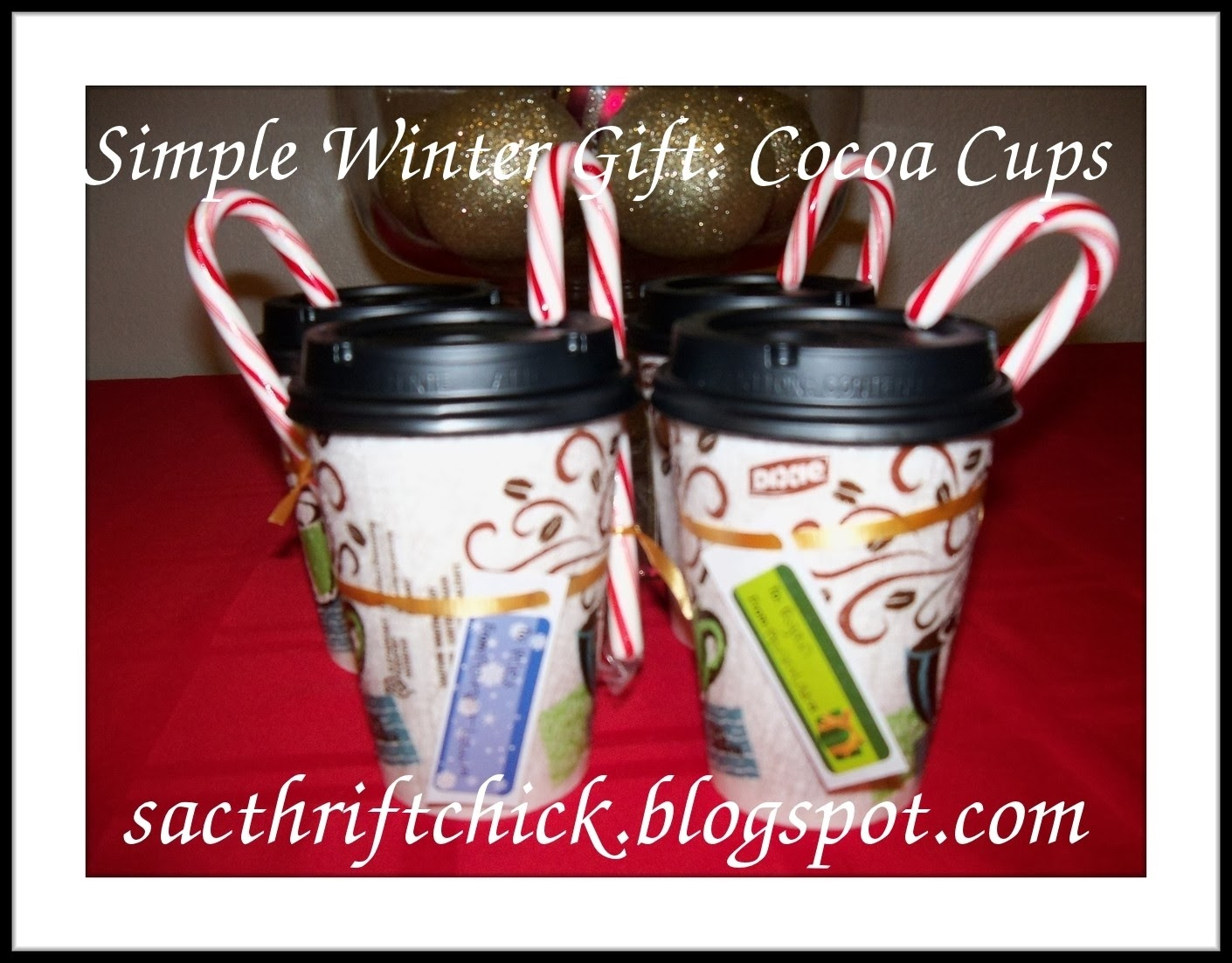 Budget Christmas Gift Idea: Cocoa Cups | ❈Sac Thrift Chick❈