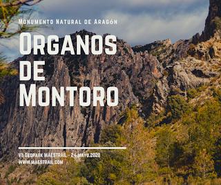 monumento natural aragón organos de montoro geoparque maestrail mayo 2020