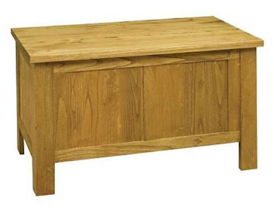 Blanket box teak minimalist furniture with natural color,interior classic furniture.code010105
