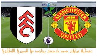 تشكيلة فولهام ضد مانشستر يونايتد في الدوري الإنجليزي