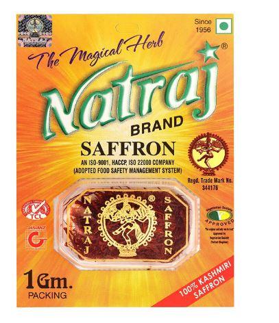 Natraj's Purest and Finest Certified Grade - I Premium A++ Kashmiri Saffron / Kesar - 2 Grams (2 Packs of 1 Gram Each)