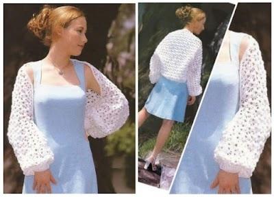 Kimono con lana blanca de 2 cabos especial primavera