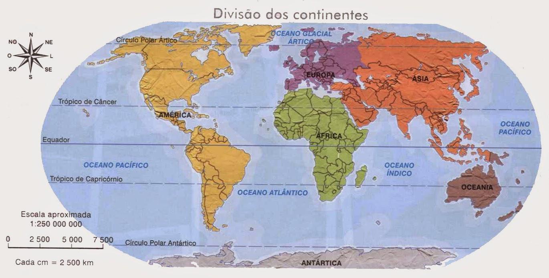 Mapa Para Jugar Dónde Está Continentes Y Océanos: Quinto Ano Beti EIB: Continentes E Oceanos