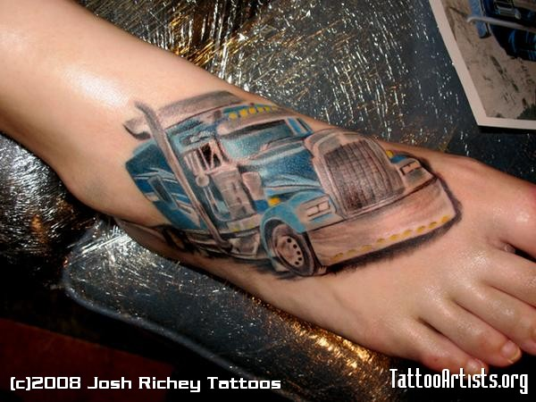 Bluetruck Foot on Big Rig Truck Logos