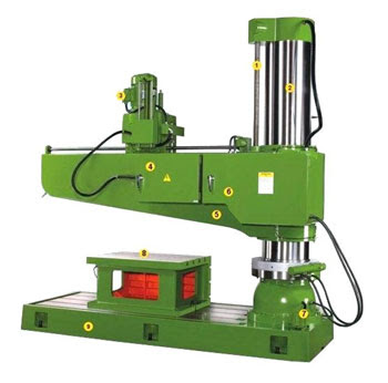 Hình ảnh cấu tạo máy khoan cần TPR-1600H Đài Loan