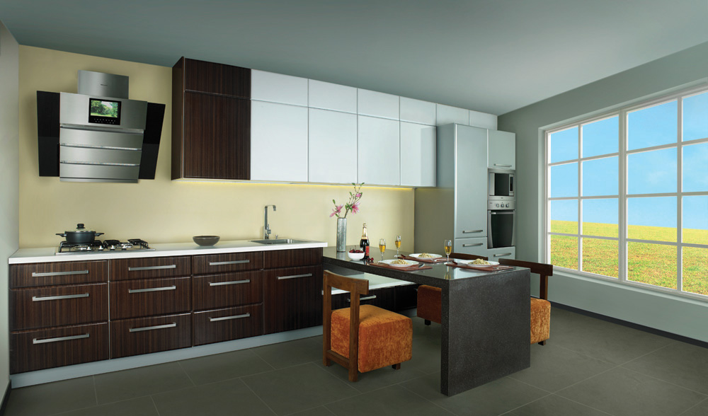 add more space with modular kitchens how to maintain modular kitchen by sleek the kitchen. Black Bedroom Furniture Sets. Home Design Ideas