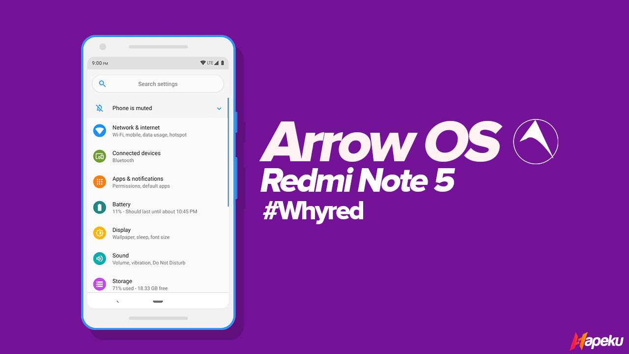 ROM Arrow OS Official Xiaomi Redmi Note 5 ( WHYRED )