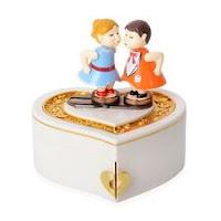 Valentine Kiss Love Music Jewelry Organizer Box Storage