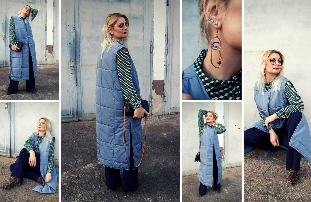Steppweste-Trend-Outfit