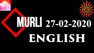 Brahma Kumaris Murli 27 February 2020 (ENGLISH)