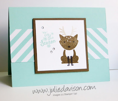 Stampin' Up! NEW Foxy Friends Reindeer Christmas Card  #stampinup www.juliedavison.com