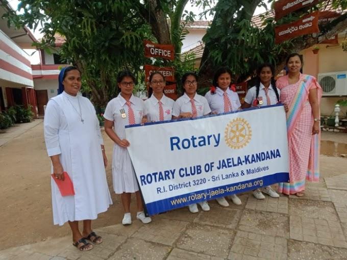Donation of Gift Vouchers - RC Jaela-Kandana