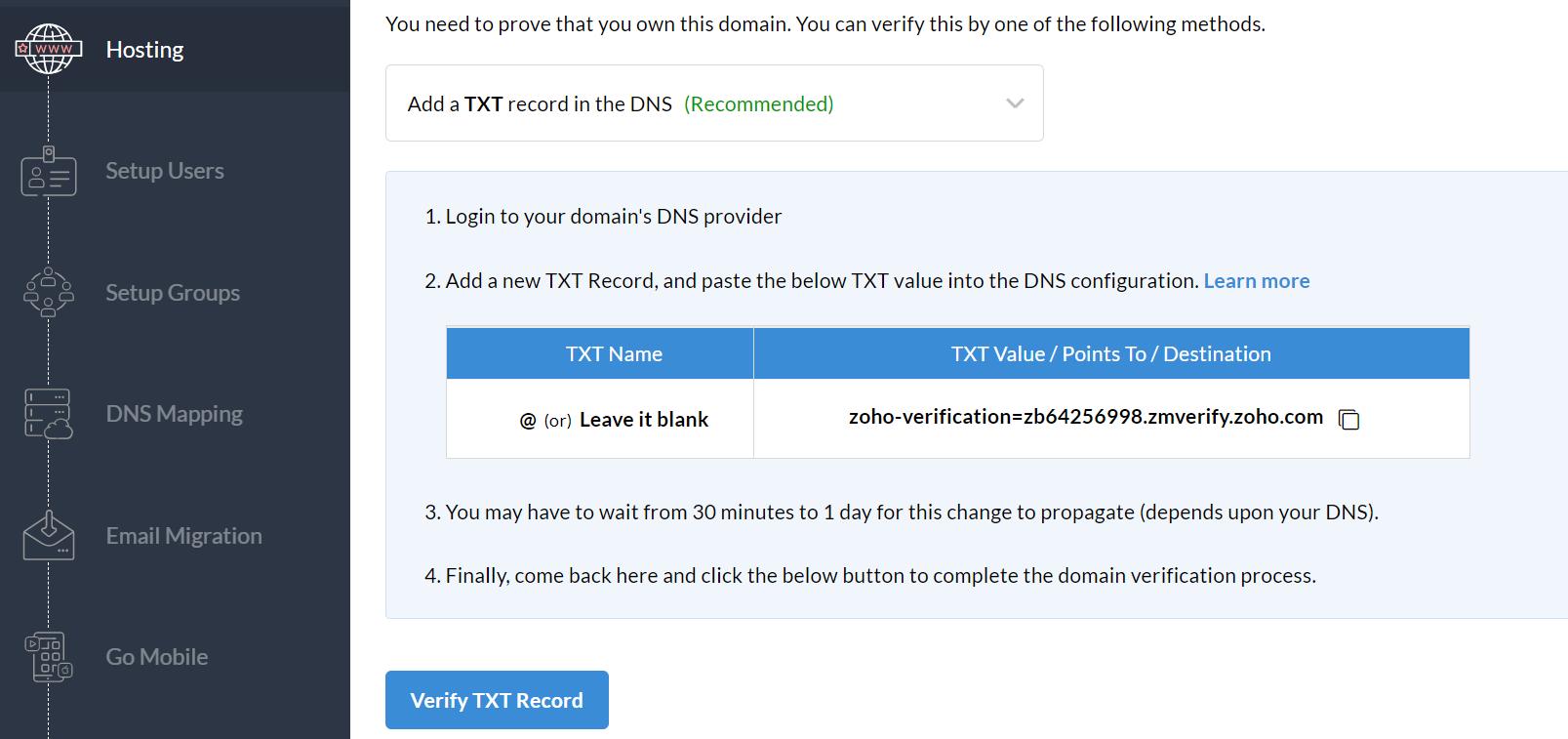 Tạo email với domain riêng tên miền riêng
