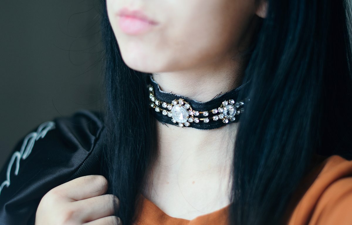 trendy fall choker diy