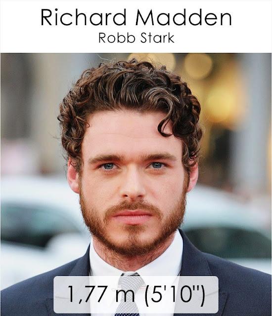 Richard Madden (Robb Stark) 1.77 m