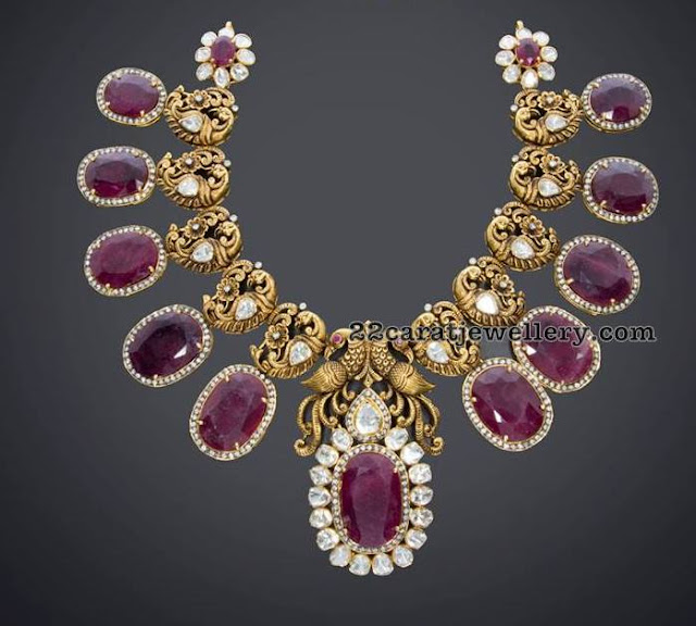 Peacock Ruby Timeless Necklace