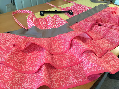 Paradise Pink Flirty Chic Womens Apron by Creative Chics